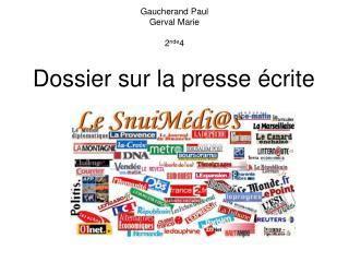 Gaucherand Paul Gerval Marie 2 nde 4