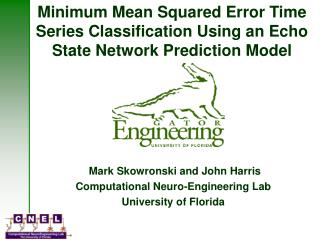 Minimum Mean Squared Error Time Series Classification Using an Echo State Network Prediction Model