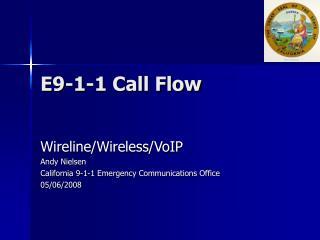 E9-1-1 Call Flow