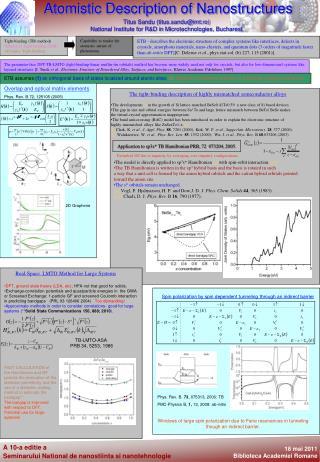Sandu TITUS Poster Titus Sandu Seminar 18 mai 2011