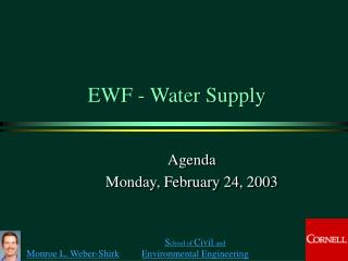EWF - Water Supply