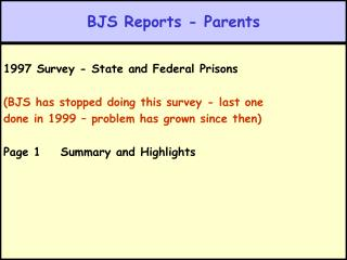 BJS Reports - Parents