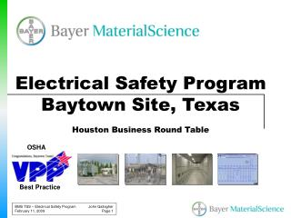 Electrical Safety Program Baytown Site, Texas Houston Business Round Table