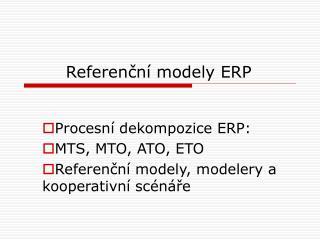 Referenční modely ERP