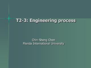 T2-3: Engineering process