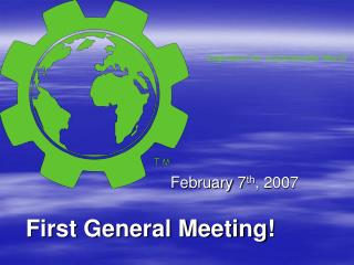 First General Meeting!