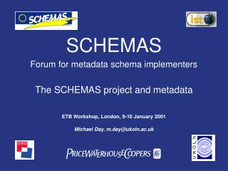 SCHEMAS Forum for metadata schema implementers