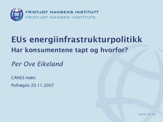EUs energiinfrastrukturpolitikk