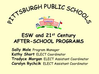 ESW and 21 st  Century AFTER-SCHOOL PROGRAMS