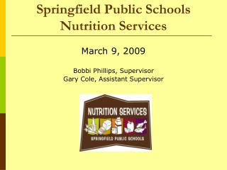 Springfield Public Schools Nutrition Services
