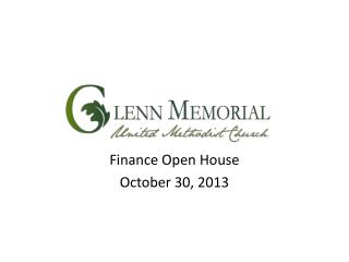 Finance Open House October 30, 2013