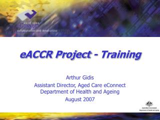 eACCR Project - Training