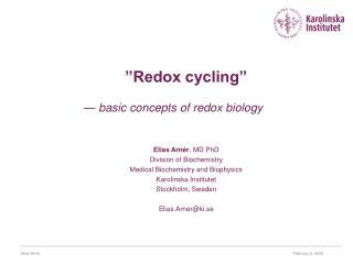 """Redox cycling"""