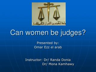Can women be judges?