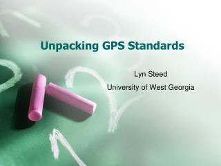 Unpacking GPS Standards