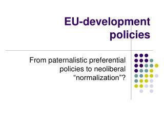EU-development policies
