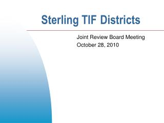 Sterling TIF Districts