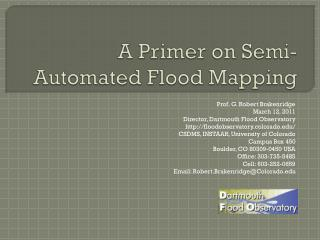 A Primer on Semi-Automated Flood Mapping
