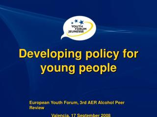 Developing policy for young people