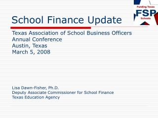 School Finance Update