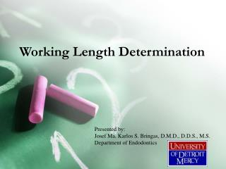Working Length Determination