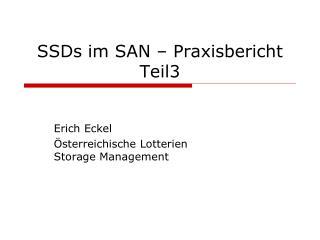 SSDs im SAN – Praxisbericht Teil3