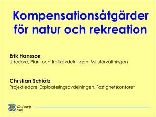 Kompensationsåtgärder  för natur och rekreation
