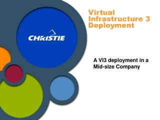 Virtual Infrastructure 3 Deployment
