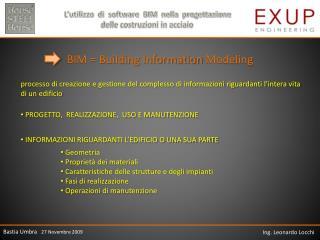 BIM = Building Information  Modeling