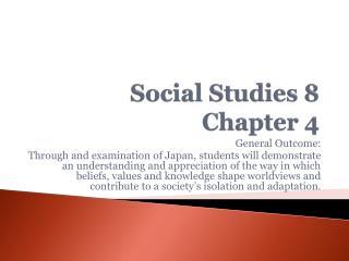 Social Studies 8 Chapter 4