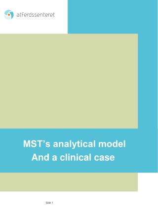 MST s analytical model  And a clinical case