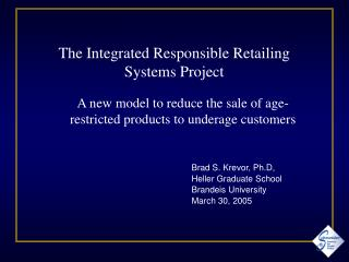 Brad S. Krevor, Ph.D,  Heller Graduate School Brandeis University March 30, 2005