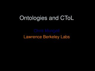 Ontologies and CToL