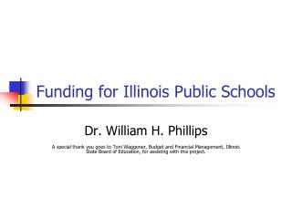 Funding for Illinois Public Schools