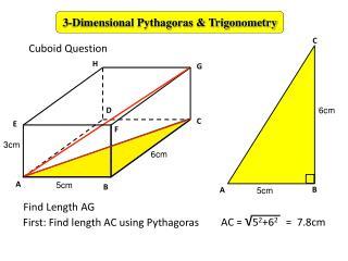 3-Dimensional Pythagoras & Trigonometry
