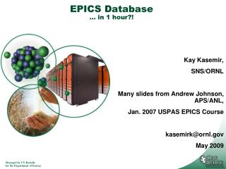 EPICS Database � in 1 hour?!