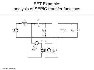 EET Example:  analysis of SEPIC transfer functions