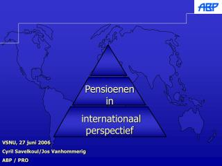 Pensioenen in  internationaal perspectief