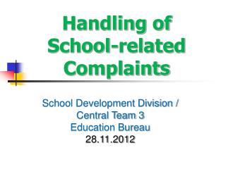 Handling of School-related Complaints