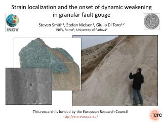 Strain localization and the onset of dynamic weakening  in granular fault gouge
