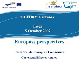 RE.FORM.E network Liège 5  October 2007