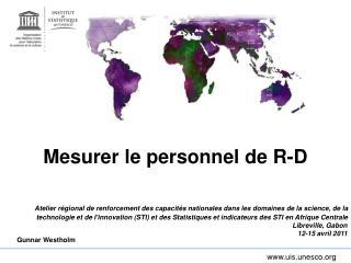 Mesurer le personnel de R-D