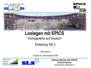 Loslegen mit EPICS Vortragsreihe auf Deutsch