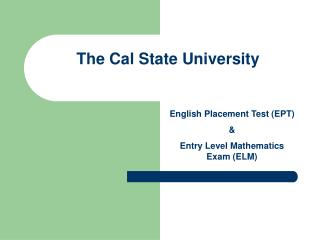 The Cal State University