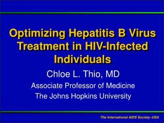 Optimizing Hepatitis B Virus Treatment in HIV-Infected Individuals