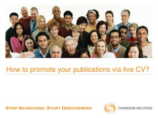 How to promote your publications via live CV?