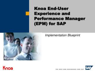 Knoa End-User Experience and Performance Manager (EPM) for SAP