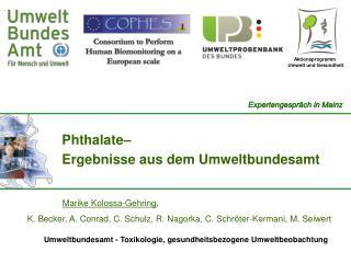 Phthalate–  Ergebnisse aus dem Umweltbundesamt
