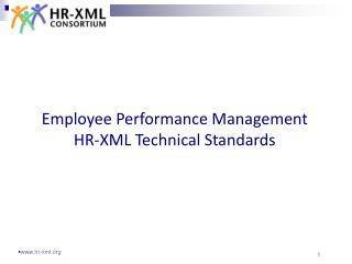 Employee Performance Management HR-XML Technical Standards