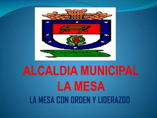 ALCALDIA MUNICIPAL  LA MESA